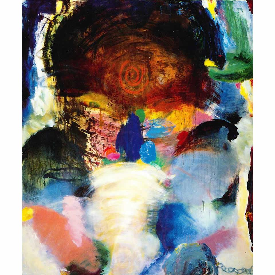 """Buffalo Man - 108"""" x 80"""" - oil on canvas"""