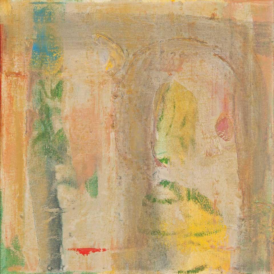 "Flume II  - oil on canvas - 13"" x 13"""