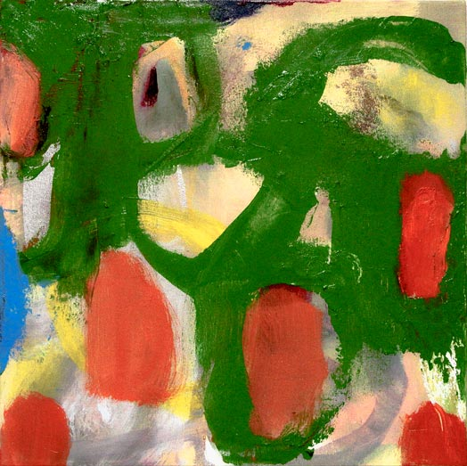 "Green Net - oil on canvas - 21"" x 21"""