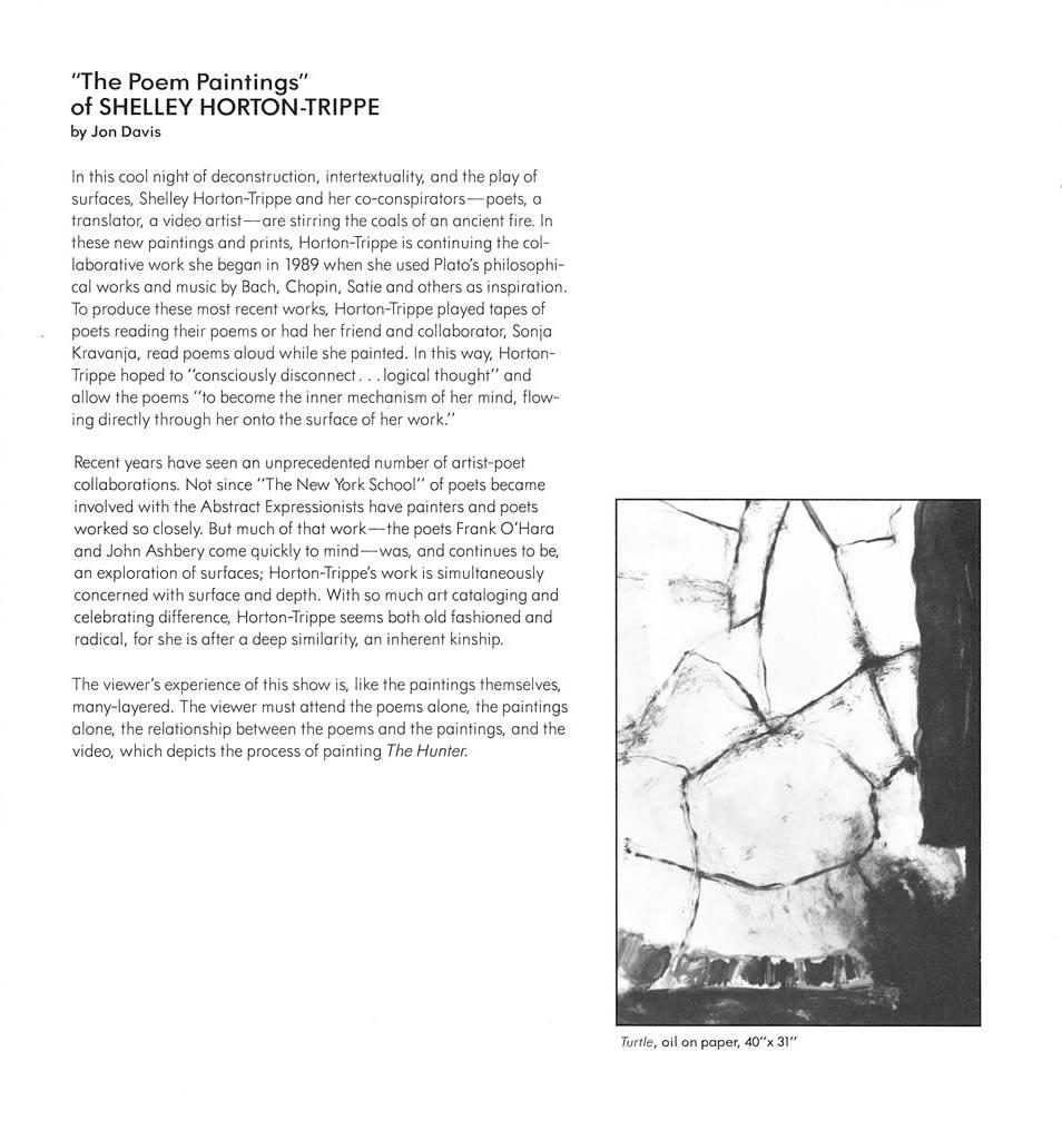 The Poem Paintings Essay by Jon Davis